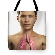 The Lungs Within The Body Pre-adolescent Tote Bag
