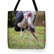 The Marabou Stork In Tanzania. Africa Tote Bag