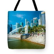 The Merlion  Fountain - Singapore Tote Bag