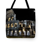 The Moon Above The Colosseum No2 Tote Bag