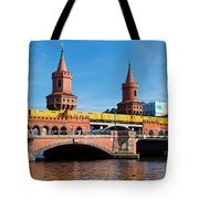 The Oberbaum Bridge In Berlin Germany Tote Bag