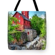 The Old Red Mill Jericho Vermont Tote Bag