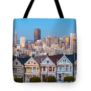 The Painted Ladies Of San Francisco Tote Bag