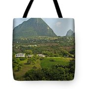 The Pitons In Saint Lucia Tote Bag
