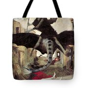 The Plague Tote Bag by Arnold Bocklin
