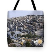 The Roman Theatre In The Middle Of The City Of Amman Jordan Tote Bag