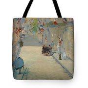 The Rue Mosnier With Flags Tote Bag