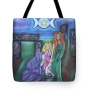 The Silvery Moon Tote Bag