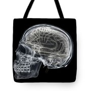 The Skull And Brain Tote Bag