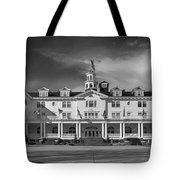 The Stanley Hotel Panorama Bw Tote Bag