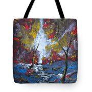 The Stream Of Light Tote Bag