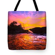The Tanah Lot Temple - Bali - Indonesia Tote Bag