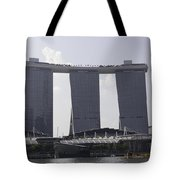 The Towers Of The Iconic Marina Bay Sands In Singapore Tote Bag