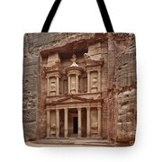 the treasury Nabataean ancient town Petra Tote Bag
