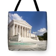 The Us Supreme Court Building Tote Bag