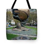 The W T C Plaza Fountain Sphere Tote Bag