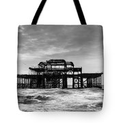 The West Pier In Brighton Tote Bag