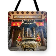 Thien Hau Temple A Taoist Temple In Chinatown Of Los Angeles. Tote Bag