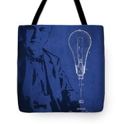 Thomas Edison Incandescent Lamp Patent Drawing From 1890 Tote Bag by Aged Pixel