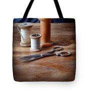 Thread And Scissors Tote Bag
