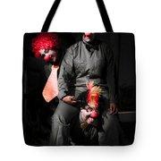 Three Clowns Having Fun Tote Bag