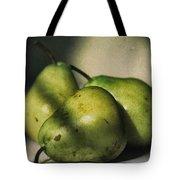 Three Pears Green Tote Bag