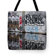 Three Skulls Graffiti Tote Bag