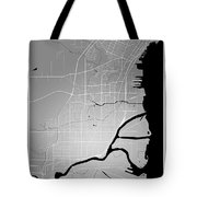 Thunder Bay Street Map - Thunder Bay Canada Road Map Art On Colo Tote Bag