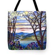 Stained Glass Tiffany Frank Memorial Window Tote Bag