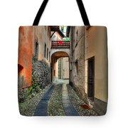 Tight Alley With A Bridge Tote Bag