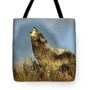 Timber Wolf Howling Idaho Tote Bag