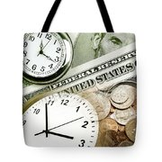 Time Is Money Concept Tote Bag