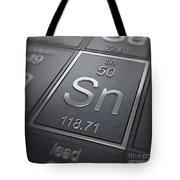 Tin Chemical Element Tote Bag