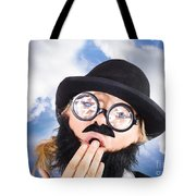 Tired Man With Day Sleeping With Insomnia Tote Bag