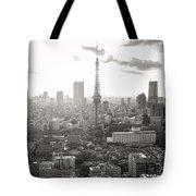 Tokyo Tower Square Tote Bag