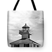 Top Of The New Canal Lighthouse - Bw Tote Bag