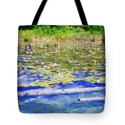Torch River Water Lilies Tote Bag