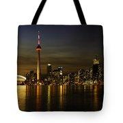 Toronto Evening Sky Line Panorama Tote Bag