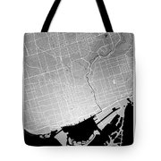 Toronto Street Map - Toronto Canada Road Map Art On Colored Back Tote Bag