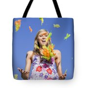 Toss The Feathers Tote Bag