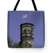 Tower And Flag Cologne Germany Tote Bag