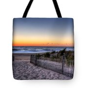 Tower Beach Sunrise Tote Bag by David Dufresne
