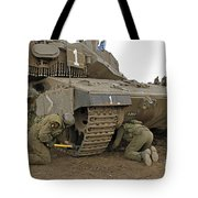Track Replacement On A Israel Defense Tote Bag