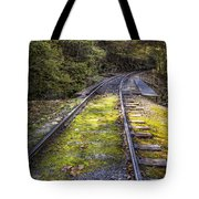 Tracks Along The River Tote Bag