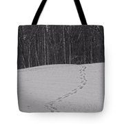 Tracks In The Snow Tote Bag