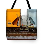 Train Cars 2 Tote Bag