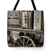 Train Station Luggage Cart Tote Bag