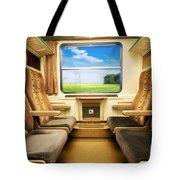 Travel In Comfortable Train. Tote Bag