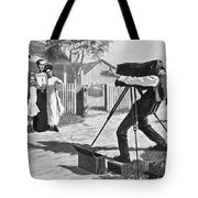 Traveling Photographer Tote Bag