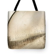 Travelling Photographer Taking Wet Weather Photo  Tote Bag